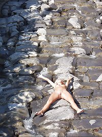 Nudist girl on vacation in Switzerland Part 2 - N. C.